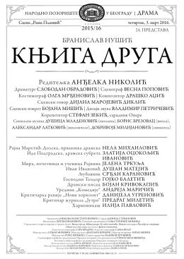 Дневна листа - Narodno Pozoriste