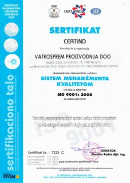 ISO 9001 srp - Vatrosprem