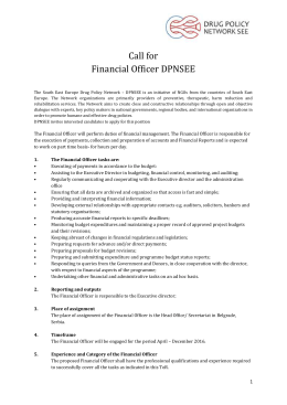 Call for Financial Officer DPNSEE