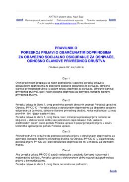 Pravilnik - Knjigovodstvena agencija AKTIVA sistem