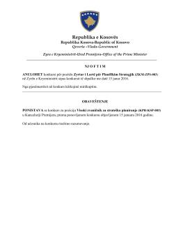 ZKM-ZPS-003 - Zyra e Kryeministrit - Zyra për Çështje të Komuniteteve