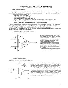 10. OPERACIJSKA POJAČALA (OP.AMP`S)