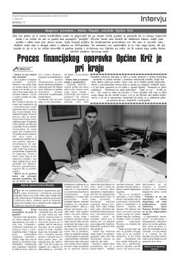 Intervju s Općinskim načelnikom Općine Križ Markom