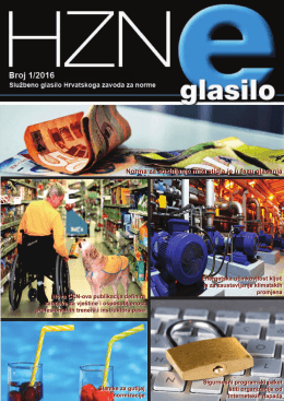 HZN e-Glasilo 1/2016 - Hrvatski zavod za norme