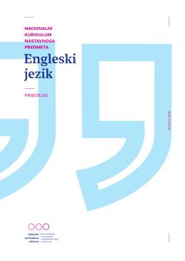Predmetni kurikulum - Engleski jezik