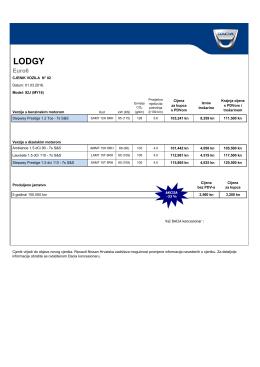 Cjenik Lodgy