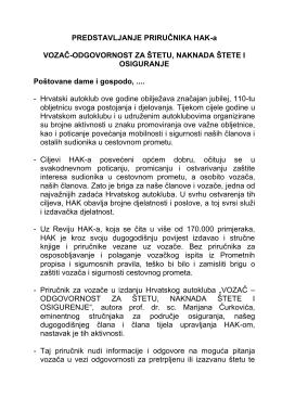 Obraćanje Predsjednika HAK-a g. Slavka Tušeka nazočnima na
