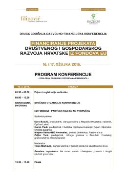program konferencije - Razvojna agencija Šibensko