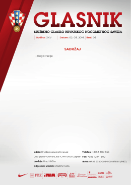 Glasnik 09/16 - Hrvatski nogometni savez