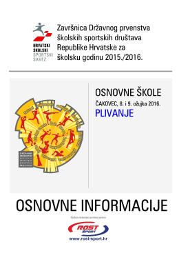 osnovne informacije- dp plivanje - Hrvatski školski sportski savez