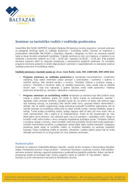 Saznajte više - Veleučilište Baltazar Zaprešić