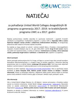 natječaj - Srednja škola Vrbovec