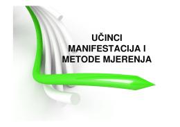 Učinci manifestacija i metode mjerenja