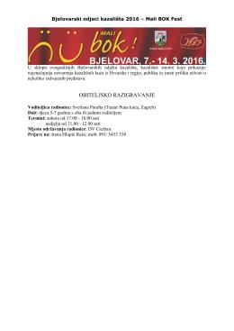 Mali BOK Fest 2016 - više o predstavama