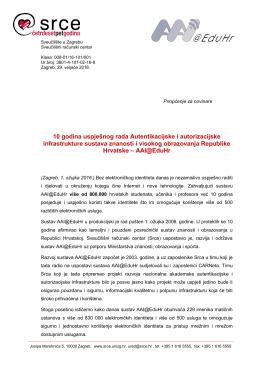 priopćenje  - Srce - Sveučilište u Zagrebu