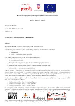 Zahtjev za dostavu ponuda trenerskih