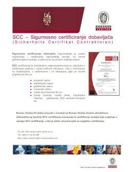 SCC – Sigurnosno certificiranje dobavljača