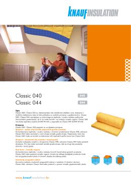 Classic 040, 044 - Knauf Insulation