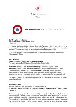 ovdje - Francuska alijansa Osijek