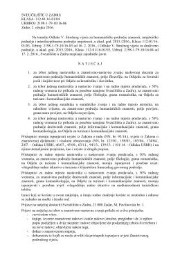2198-1-79-10/16-06 Zadar, 2. ožujka 2016. Na temelju Odluke V