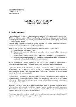 Katalog informacija DV Limač