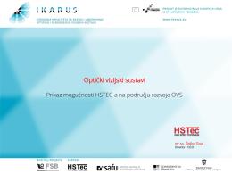Prikaz mogućnosti HSTEC-a na području razvoja OVS