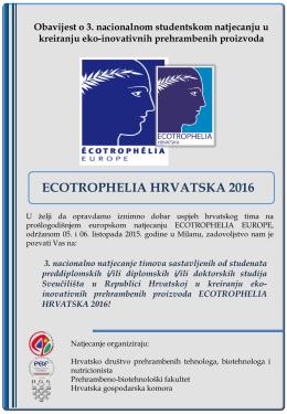 Ecotrophelia Hrvatska 2016 1. obavijest