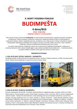 budimpešta - CITY TRAVEL TOURS