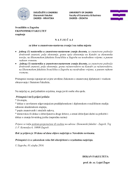 docenti - EFZG - Ekonomski Fakultet Zagreb