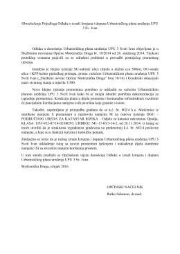 ID UPU Sv. Ivan - Obrazloženje