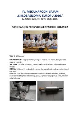 Natjecanje u proizvodnji istarskih kobasica