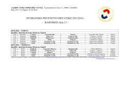 RASPORED zima 13 - Hrvatski hokejski savez
