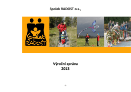 výroční zpráva Spolek 2013