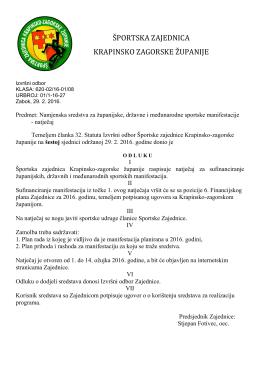 ŠPORTSKA ZAJEDNICA KRAPINSKO ZAGORSKE ŽUPANIJE