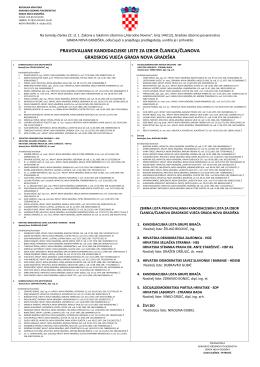 pravovaljane kandidacijske liste za izbor članica