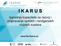 Predstavljanje projekta IKARUS, izlagač