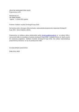 Odluku - Hrvatski Radioamaterski Savez