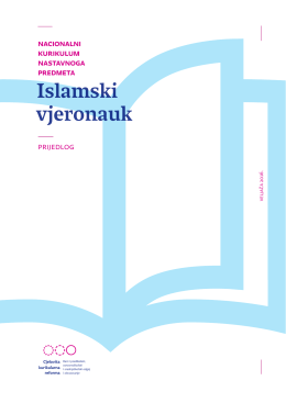 Predmetni kurikulum - Islamski vjeronauk