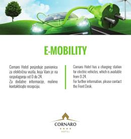 e-mobility - Hotel Cornaro