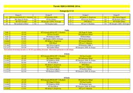 Raspored i satnica utakmica U12