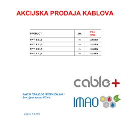 AKCIJSKA PRODAJA KABLOVA 03.
