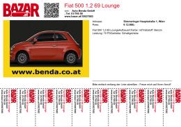 Fiat 500 1,2 69 Lounge