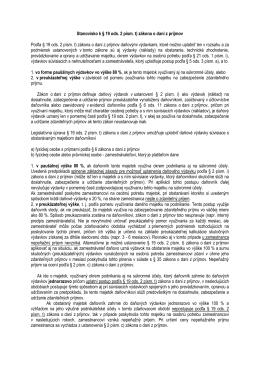 Stanovisko k § 19 ods. 2 písm. t) zákona o dani z príjmov Podľa § 19