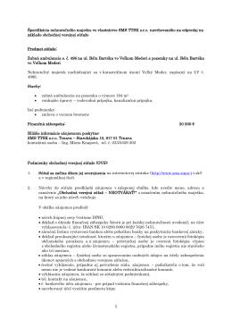 Zmluvy - SMS TTSK sro