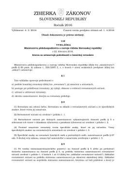 116/2016 - Elektronická zbierka zákonov