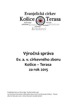 Výročná správa - Evanjelický cirkevný zbor av Košice Terasa