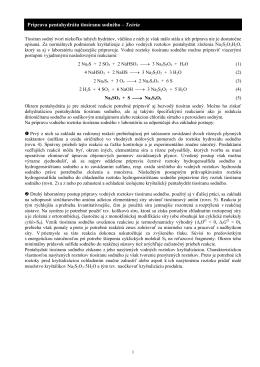 Príprava pentahydrátu tiosíranu sodného – Teória