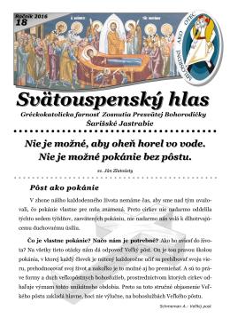 najnovší časopis - Gréckokatolícka farnosť Šarišské Jastrabie