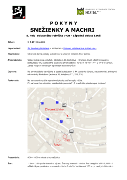 Pokyny - ŠK Sandberg