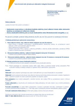 - Uzatvorenie novej zmluvy o združenej dodávke elektriny (nové